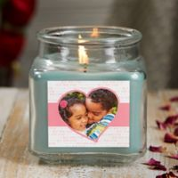 Love You This Much Personalized Eucalyptus Spa Photo Candle Jar- Small