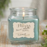 Mr. & Mrs. Personalized Eucalyptus Spa Candle Jar- Small