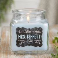 Teachers Light The Way Crystal Waters Candle Jar- Small