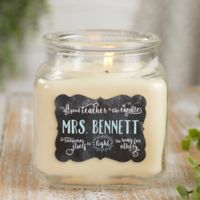 Teachers Light The Way Vanilla Bean Candle Jar- Small