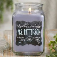 Teachers Light The Way Lilac Minuet Candle Jar- Large