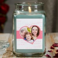 Love You This Much Personalized Eucalyptus Spa Photo Candle Jar- Large