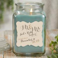 Mr. & Mrs. Personalized Eucalyptus Spa Candle Jar- Large