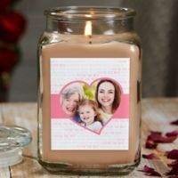 Love You This Much Personalized Walnut Coffee Cake Photo Candle Jar- Large