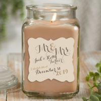 Mr. & Mrs. Personalized Walnut Coffee Cake Candle Jar- Large