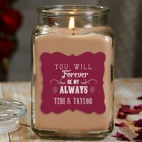 Love Quotes Personalized Walnut Coffee Cake Candle Jar- Large