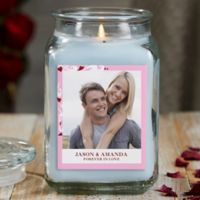 Sweethearts Personalized Crystal Waters Photo Candle Jar- Large
