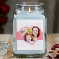 Love You This Much Personalized Crystal Waters Photo Candle Jar- Large