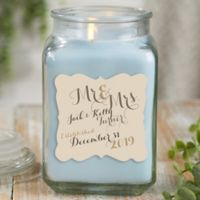 Mr. & Mrs. Personalized Crystal Waters Candle Jar- Large