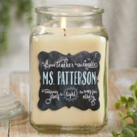 Teachers Light The Way Vanilla Bean Candle Jar- Large