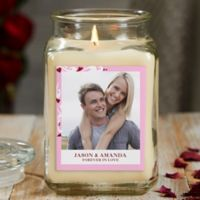 Sweethearts Personalized Vanilla Bean Photo Candle Jar- Large