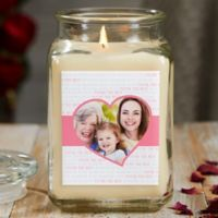 Love You This Much Personalized Vanilla Bean Photo Candle Jar- Large
