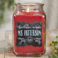 Teachers Light The Way Cinnamon Spice Candle Jar- Large