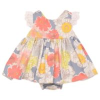Baby Starters® Size 12M Watercolor Floral Dress and Ruffled Diaper Pant Set