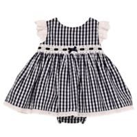 Baby Starters® Size 3M Gingham Dress and Diaper Pant Set in Navy