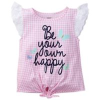 """Gerber® Size 0-3M """"Be Your Own Happy"""" Short Sleeve Top"""