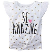 """Gerber® Size 3-6M """"Be Amazing"""" Short Sleeve Top"""