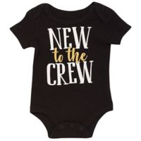 Baby Starters® BWA® Size 6M New to the Crew Bodysuit in Black