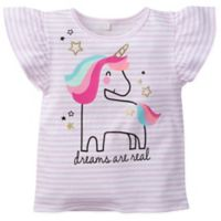 Gerber® Size 18M Stripe Unicorn Top in Pink