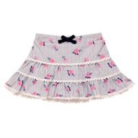 Baby Starters® Size 12M Striped Rosette Print Tutu Skirt in Blue/White