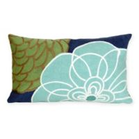 Liora Manne Disco 12-Inch x 20-Inch Outdoor Throw Pillow in Blue