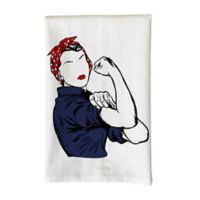 Love You a Latte Shop Rosie Kitchen Towel in White