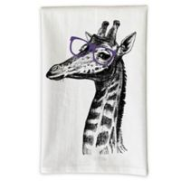 Love You a Latte Shop Giraffe in Glasses Kitchen Towel