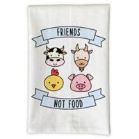 """Love You a Latte Shop """"Friends Not Food"""" Kitchen Towel"""
