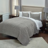 Rizzy Home Giavonna King Quilt in Grey