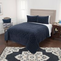 Rizzy Home Giavonna King Quilt in Navy