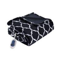 Beautyrest® Ogee Heated Throw Blanket in Black