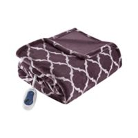 Beautyrest® Ogee Heated Throw Blanket in Purple
