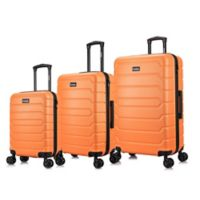 InUSA Trend II 3-Piece Hardside Spinner Luggage Set in Orange