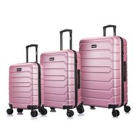 InUSA Trend II 3-Piece Hardside Spinner Luggage Set in Rose Golden