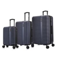InUSA Ally 3-Piece Hardside Spinner Luggage Set in Navy/Blue