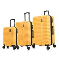 InUSA Ally 3-Piece Hardside Spinner Luggage Set in Mustard