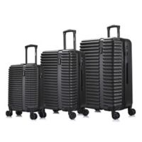 InUSA Ally 3-Piece Hardside Spinner Luggage Set in Black