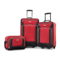 American Tourister® Fieldbrook XLT 3-Piece Luggage Set in Red/Black