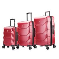 DUKAP® Zonix 3-Piece Hardside Spinner Luggage Set in Wine