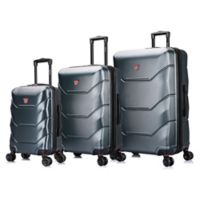 DUKAP® Zonix 3-Piece Hardside Spinner Luggage Set in Green