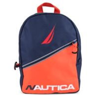 Nautica® Kids Colorblock Diagonal Zip 16.5-Inch Full Size Backpack in Red/Blue