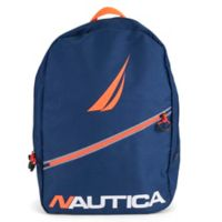 Nautica® Diagonal Zip Full Size Backpack in Black
