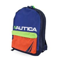 Nautica® Colorblock Pocket Full Size Backpack in Orange