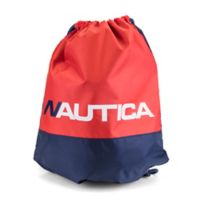 Nautica® Cinch Sack Sling Backpack in Red/Blue