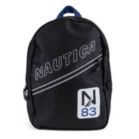 Nautica® N83 Diagonal Zip Mini Backpack in Black