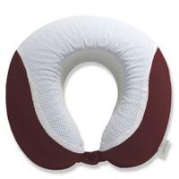 Perry Ellis® Gel Memory Foam Travel Pillow in Burgundy