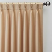 Silken 108-Inch Pinch Pleat Window Curtain Panel in Champagne