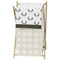 Sweet Jojo Designs Woodland Camo Laundry Hamper in Beige/Green