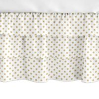 Sweet Jojo Designs® Watercolor Floral Crib Skirt in Gold/White