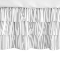 Sweet Jojo Designs Woodland Animals Ruffled Crib Skirt in Grey